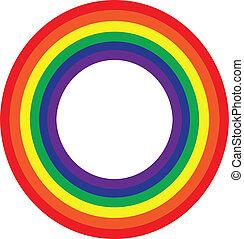 Rainbow wheel on white
