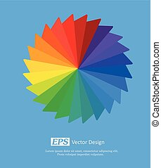 Rainbow Wheel Vector
