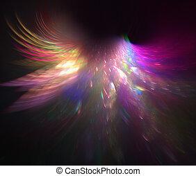 Rainbow wings - fractal rendering resembling rainbow angel...