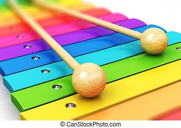 Rainbow wooden xylophone
