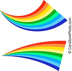 Rainbows icon on a white background. Flat vector illustration