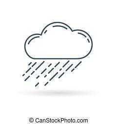 raincloud, icono, blanco, plano de fondo