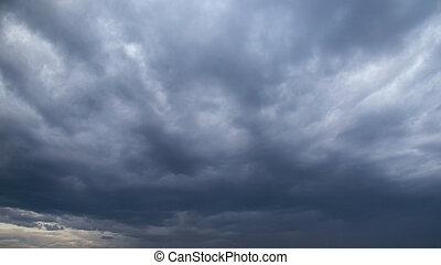 rainclouds, orage
