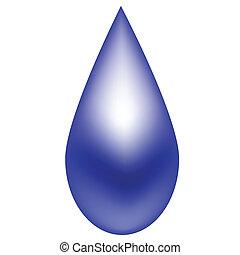Raindrop Blue - Shiny blue raindrop