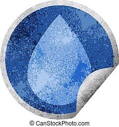 raindrop graphic circular sticker - raindrop graphic vector...