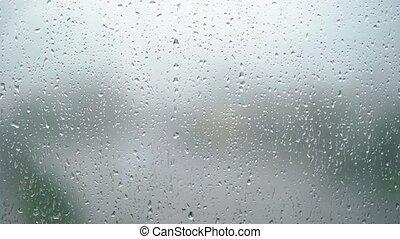 Raindrops at the window - Rain drops at the window