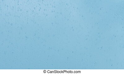 Raindrops Falling On Window