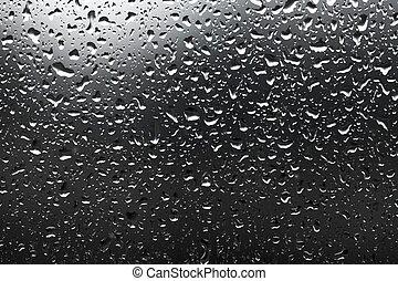 Raindrops - Many raindrops on a window