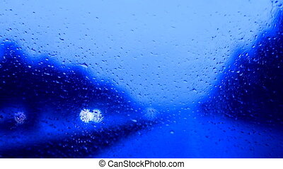 raindrops on a car windshield