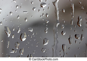 raindrops on glass texture abstract background