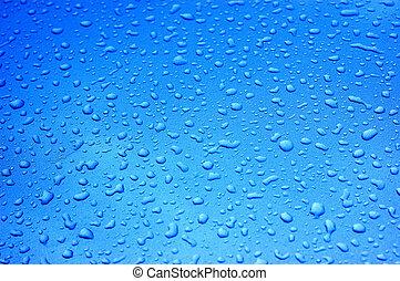 Raindrops on metallic car paint - might be a bit noisy...
