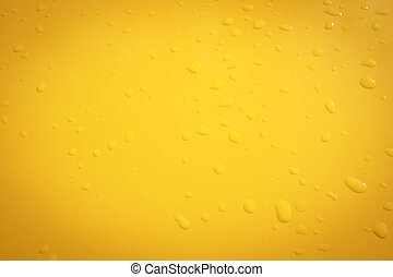 raindrops on the yellow metal