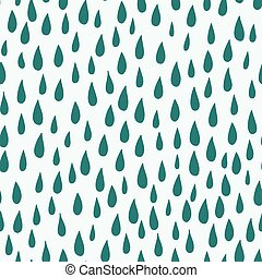 Raindrops seamless vector pattern background. - Raindrops...