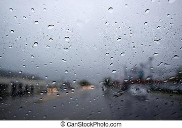 Raindrops on the Windshield