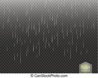 rainfall, checkered, natureza, chuva, transparente, água,...
