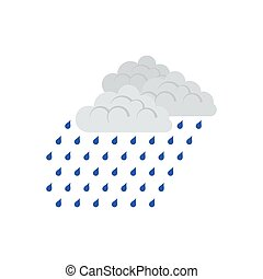 Rainfall icon. Flat color design. Vector illustration.