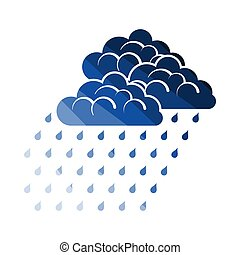 Rainfall Icon. Flat Color Ladder Design. Vector...