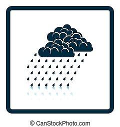 Rainfall icon. Shadow reflection design. Vector...