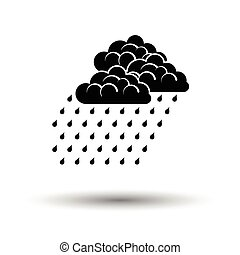 Rainfall icon. White background with shadow design. Vector...