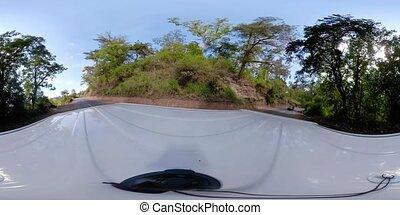 Rainforest Landscape vr360 Indonesia - vr360 highway in...