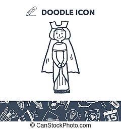 rainha, doodle