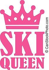 rainha, esqui