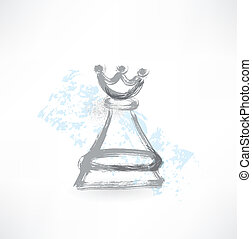 rainha, grunge, xadrez, ícone