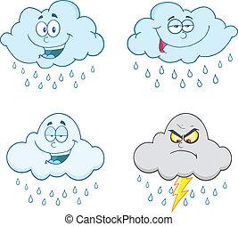 Raining Clouds Set Collection - Raining Clouds Cartoon...