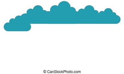 Raining coins animation - of a cloud raining bills on a...
