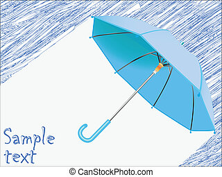 raining concept, abstract vector art illustration