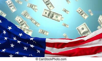 Raining dollar bills video