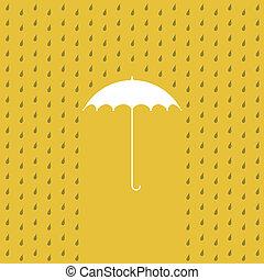 raining on a umbrella - illustration
