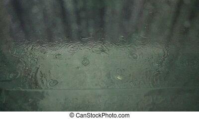 raining outside of window