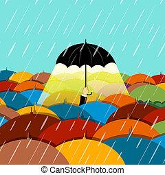 raining season - illustration of raining season