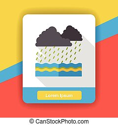 rainning cloud flat icon