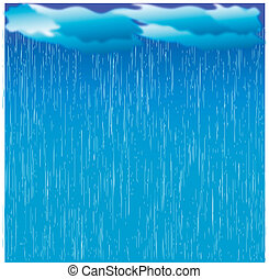 rain.vector, kép, noha, sötét felhő, alatt, nedves, nap