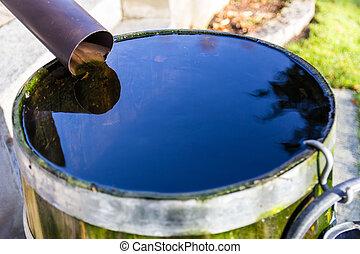 Rainwater in a barrel