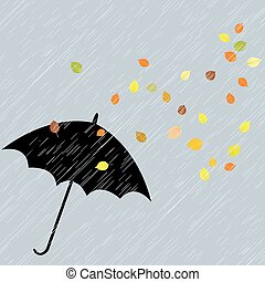 Rainy autumn background