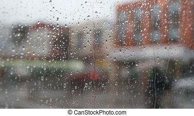 Rainy city.