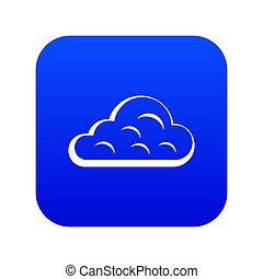 Rainy cloud icon digital blue