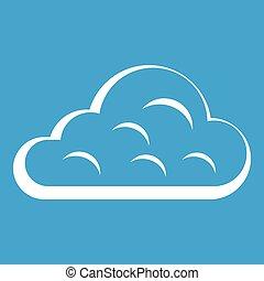 Rainy cloud icon white