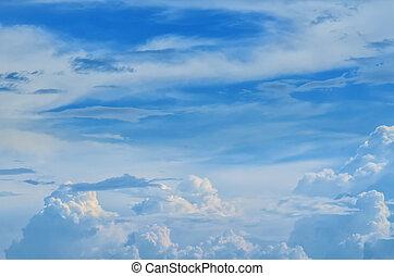 Rainy cloud in the sky