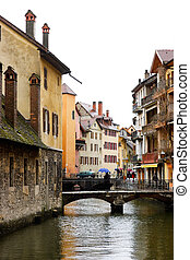 Rainy day at Annecy town - Rainy day at medieval town of...
