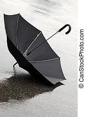 rainy day - umbrella on the street(special photo f/x)