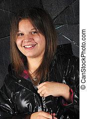 rainy-day, teenager