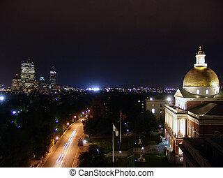 Rainy Night Boston State House