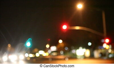 rainy night city scene