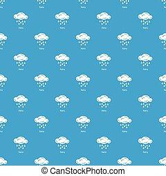Rainy pattern vector seamless blue