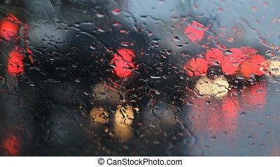 Rainy redlight.