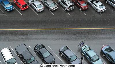 Rainy Street. Cars go by.